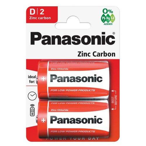 Фото - Батарейка Panasonic Zinc Carbon D/R20, 2 шт. наклейки 2 r volkswagen vw r20 volkswagen scirocco