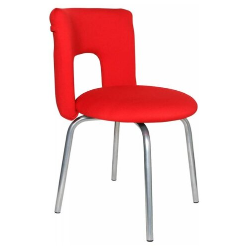 Стул Бюрократ KF-1, металл/текстиль, цвет: красный 26-22