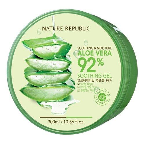 Гель для тела NATURE REPUBLIC с алоэ Soothing & Moisture Aloe Vera 92%, 300 мл