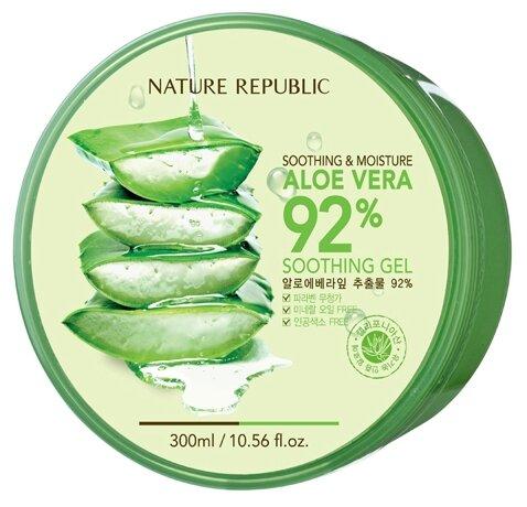 Гель для тела NATURE REPUBLIC с алоэ Soothing & Moisture Aloe Vera 92%, банка, 300 мл
