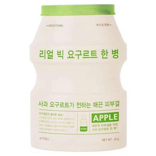 Фото - A'PIEU тканевая маска Real Big Yogurt One Bottle Apple с экстрактом яблока, 21 г a pieu тканевая маска real big yogurt one bottle mango с экстрактом манго 21 г