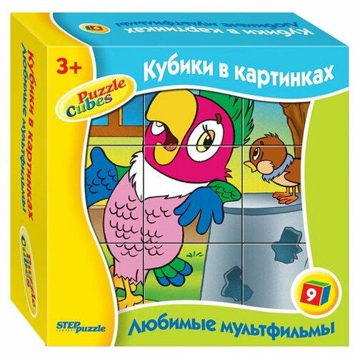 Купить Кубики-пазлы Step puzzle Любимые мультфильмы 87311, Детские кубики