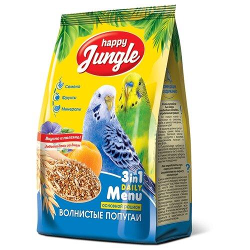 Happy Jungle Корм для волнистых попугаев Основной рацион 500 гКорма для птиц<br>