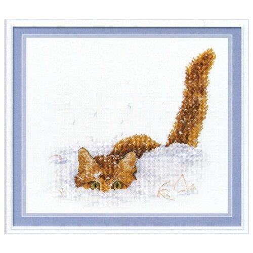 Фото - М.П.Студия Набор для вышивания Кот в снегу 20 x 25 см (нв-557) кот в снегу