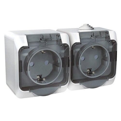 Розетка Schneider Electric PA16-244B,16А, с защитной шторкой, с заземлением, белый розетка xiaomi mi smart plug wifi 16а с защитной шторкой с заземлением белый