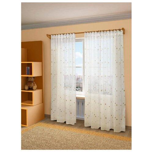 Тюль Sanpa Джессика на ленте 280 см бежево-коричневый штора sanpa home collection 200 280 коричневый