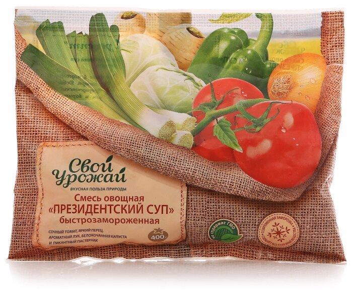 Свой урожай замороженная смесь овощная президентский суп 400 г