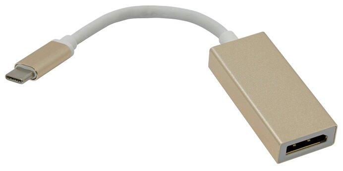 Кабель-адаптер USB 3.1 Type-Cm -- DP(f) 3840x2160@30Hz, 10Gbps , 0,15m Telecom TCA422