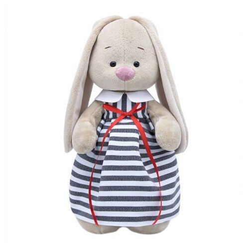 Купить Мягкая игрушка Зайка Ми в платье в полоску 32 см, Мягкие игрушки