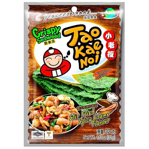 Снэк из морских водорослей Tao Kae Noi со вкусом жаренных пряных мидий 32 гСнэки, закуски<br>
