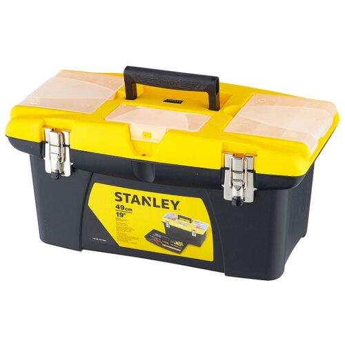Ящик с органайзером STANLEY Jumbo 1-92-906 27.6x48.6x23.2 см черный/желтый ящик с органайзером stanley jumbo 1 92 906 27 6x48 6x23 2 см черный желтый