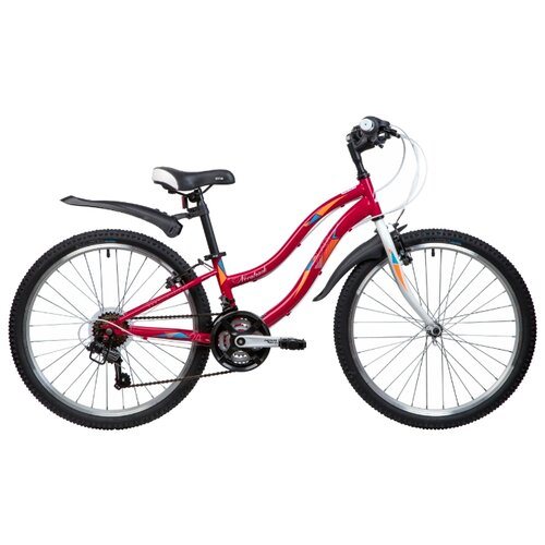 цена на Подростковый городской велосипед Novatrack Lady 24 (2019) red 10 (требует финальной сборки)