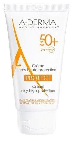 A-Derma Protect cолнцезащитный крем spf 50+ 40 мл