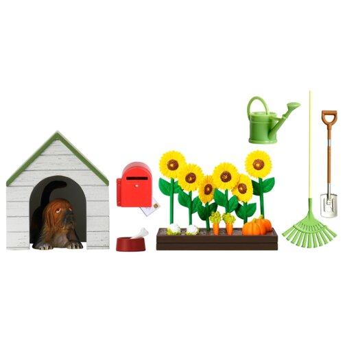 Фото - Питомец Lundby Садовый набор с питомцем зеленый/белый/коричневый аксессуары для домика lundby садовый набор с питомцем