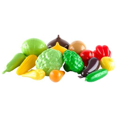 Купить Набор продуктов Пластмастер Большой набор овощей 21049 разноцветный, Игрушечная еда и посуда
