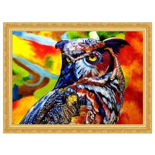 Color Kit Картина из пайеток Мудрая сова (CME014), Картины из пайеток  - купить со скидкой