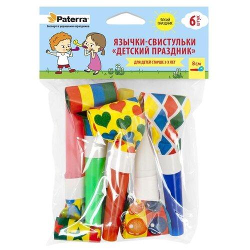 Paterra Язычки-свистульки Детский праздник (6 шт.) красный/оранжевый/желтый/зеленый/синий