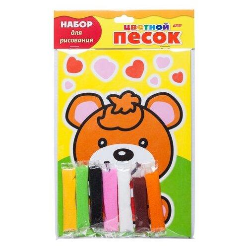 Купить Hatber набор для рисования Раскрась песком Веселый мишка (РП5_17007), Фрески