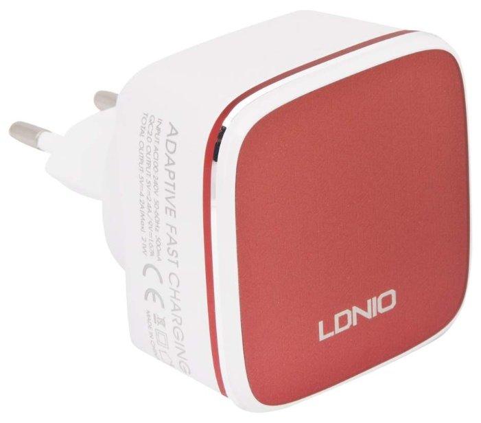Сетевая зарядка LDNIO A2405Q + Micro USB