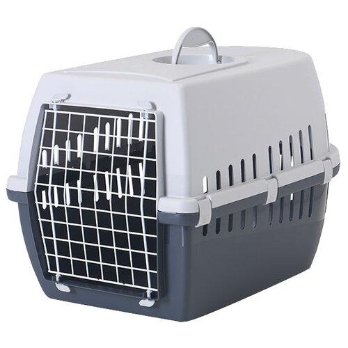 Фото - Клиппер-переноска для кошек и собак SAVIC Trotter 3 40.5х39х60 см серый/темно-серый клиппер переноска для собак imac linus cabrio 50х32х34 см розовый