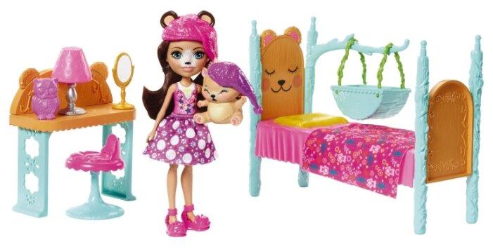 Набор с куклой Enchantimals Спальня Брен Миши, 15 см, FRH46