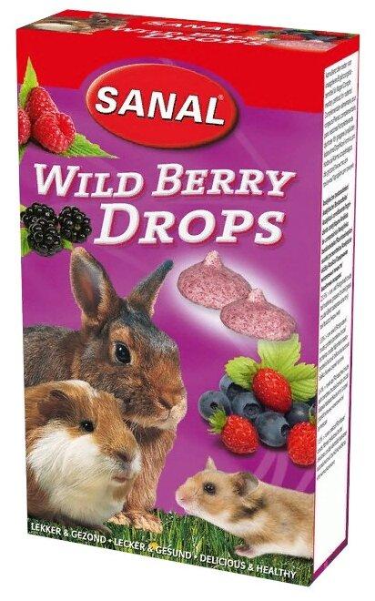 Лакомство для кроликов, грызунов SANAL Wild Berry Drops с лесными ягодами