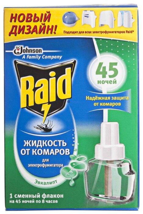 Жидкость от комаров для фумигатора Raid Эвкалипт 45 ночей 643806