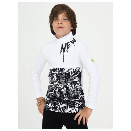 Купить Водолазка Nota Bene размер 122, белый, Свитеры и кардиганы