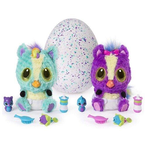 Купить Интерактивная мягкая игрушка Hatchimals Hatchibabies Ponette 19133-PON голубой/фиолетовый, Роботы и трансформеры