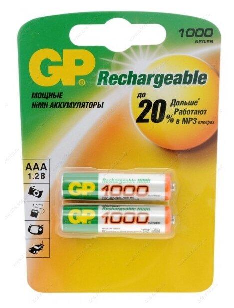 Аккумулятор Ni-Mh 950 мА·ч GP Rechargeable 1000 Series AAA
