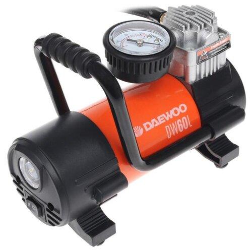 Автомобильный компрессор Daewoo Power Products DW60L черный/оранжевый компрессор масляный daewoo power products dac 90b 90 л 2 4 квт