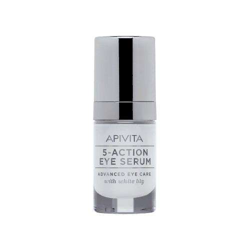 Apivita Интенсивная сыворотка для кожи вокруг глаз 5-Action Eye Serum 15 мл provamed антивозрастная корректирующая сыворотка для кожи вокруг глаз age corrector eye serum 15 гр
