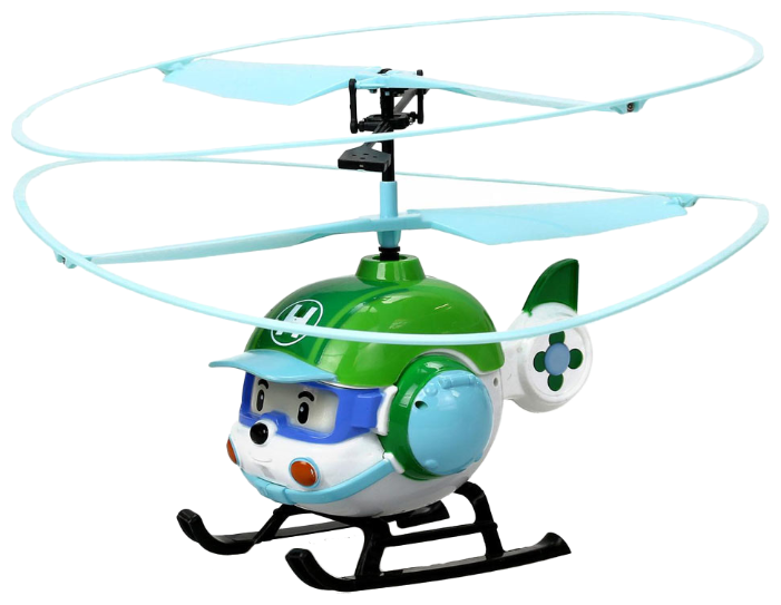Вертолет Silverlit Robocar Poli Хэли (83390) 6 см белый/зеленый фото 1
