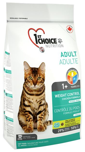 Корм для стерилизованных кошек 1st Choice Adult для профилактики МКБ, с курицей