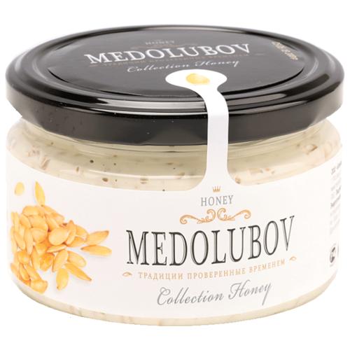 Крем-мед Medolubov Урбеч с семенами льна (белый) 250 мл