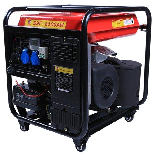 цена на Бензиновый генератор КАЛИБР БЭГ-6100АИ (5500 Вт)