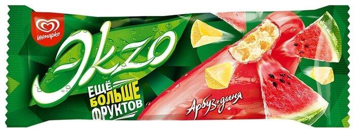 Мороженое Эkzo Арбуз+Дыня в замороженной глазури 72г