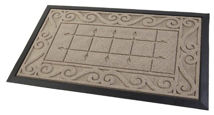 Придверный коврик Eco Floor Плитка, размер: 0.75х0.45 м, бордовый