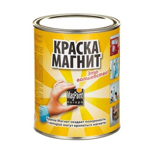 Краска латексная MAGPAINT Магнитная краска для детской матовая темно-серый 1 л
