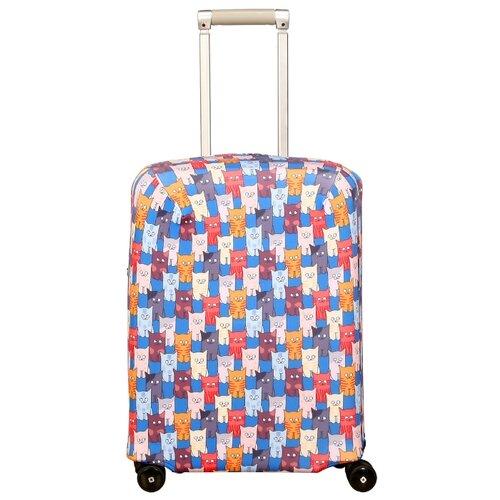 Чехол для чемодана ROUTEMARK Шкодастрофа SP500 S, разноцветныйЧемоданы<br>