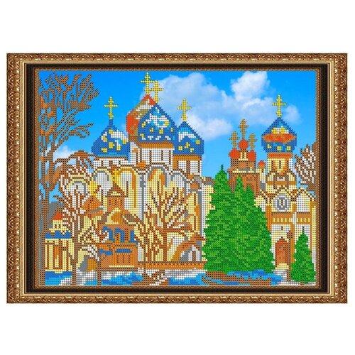 Светлица Набор для вышивания бисером Храм 30,3 х 22,3 см, бисер Чехия (199)