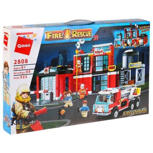 Купить Конструктор Qman Fire Rescue 2808 Пожарная станция с машиной, Конструкторы