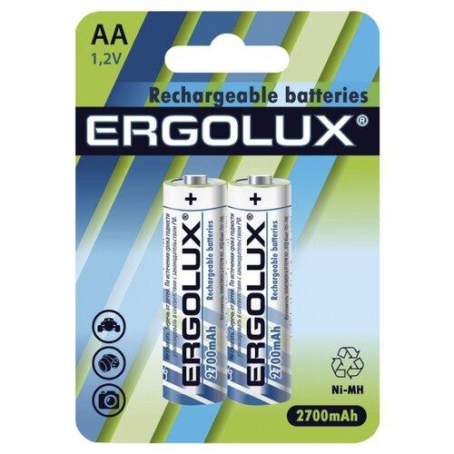 Фото - Аккумулятор Ni-Mh 2700 мА·ч Ergolux Rechargeable batteries AA 2 шт блистер аккумулятор smartbuy sbr 2a02bl2300 aa 2 шт