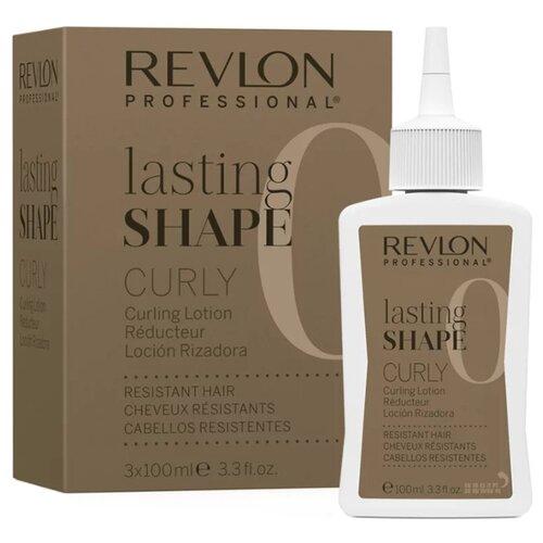 Revlon Professional Lasting Shape Curly Resistant Hair 0 Лосьон для химической завивки трудноподдающихся волос, 300 мл