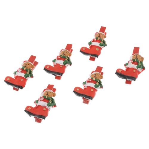 Набор елочных игрушек Magic Time Мишки в сапогах (41814) красный/зеленый/коричневый фигурки magic time обезьяна клоун в ящике