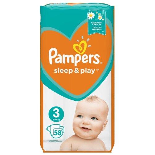 Pampers подгузники Sleep&Play 3 (6-10 кг) 58 шт.