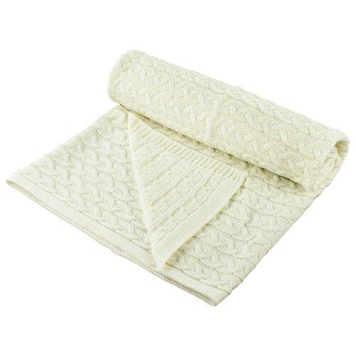 Купить Плед LEO Косы 90x100 молочный, Покрывала, подушки, одеяла