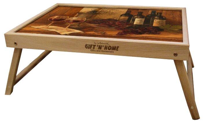 Поднос-столик Gift'n'Home TL-VinWines(b) коричневый/красный