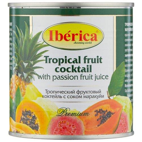 Консервированный тропический фруктовый коктейль с соком маракуйи, жестяная банка 425 г
