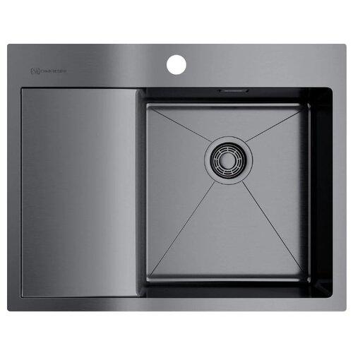Фото - Врезная кухонная мойка 65 см OMOIKIRI Akisame 65-IN-GM-R вороненая сталь врезная кухонная мойка 65 см omoikiri akisame 65 in r нержавеющая сталь